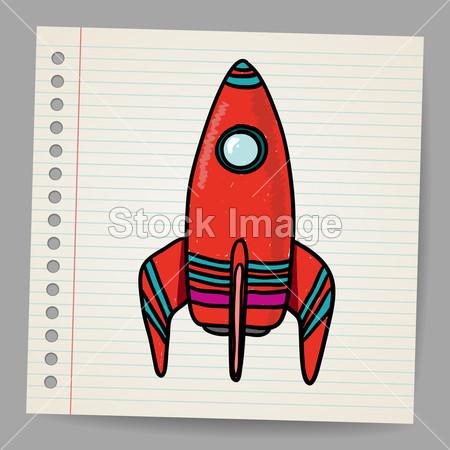 >卡通太空火箭