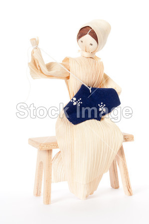伯利恒 圣诞节 特写镜头 玉米工艺创意 可爱的 装饰品装饰细节娃娃图片