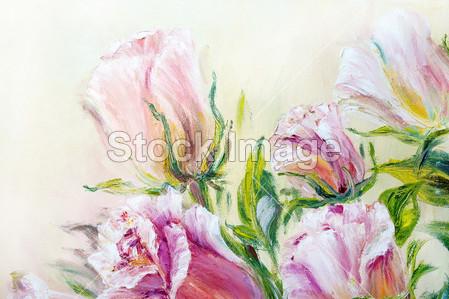 玫瑰花瓣美工图