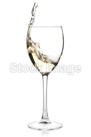 泼一杯白葡萄酒摄影图片下载