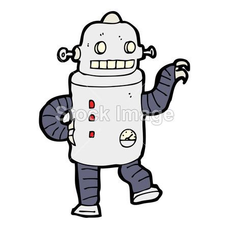 手绘涂鸦机器人