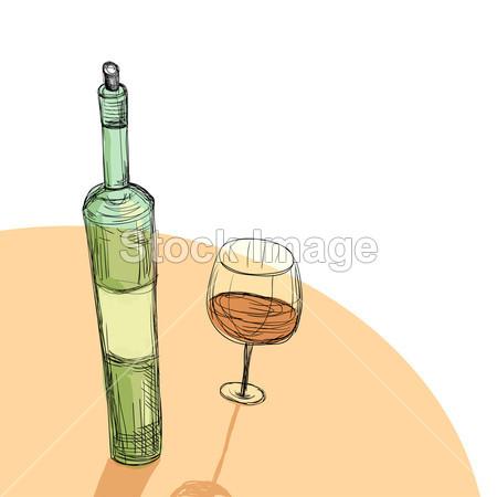 酒瓶装饰画手绘