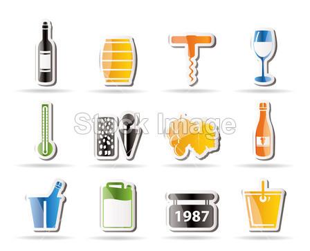 酒和饮料图标摄影图片下载