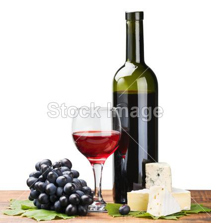 红酒瓶创意画图片