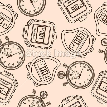 数 圆形的 无缝管 第二 秒表 符号 纹理 滴答滴答 时间 钟表 矢量