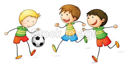 踢足球的男孩摄影图片下载