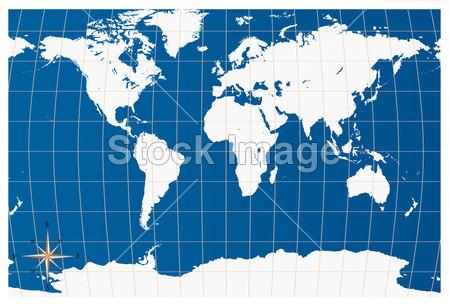 指南针和世界地图