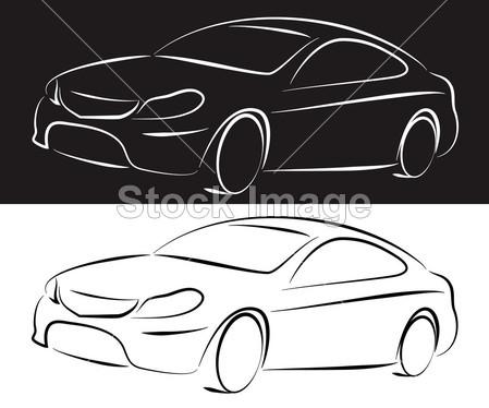 汽车 背景 业务 汽车 概念 经销商 设计 车库 插图 标志 职业