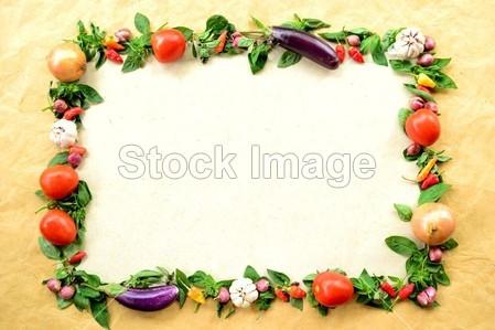 卡通蔬菜ppt背景图