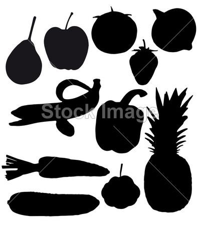 首页 美食饮料 西式餐点 > 水果和蔬菜是黑色剪影  规格 像素(px)