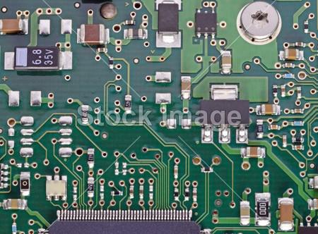 计算机电路板与芯片摄影图片下载