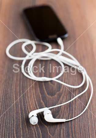 耳机和手机摄影图片下载