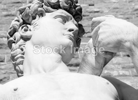 > 由米开朗基罗, 佛罗伦萨, 意大利雕塑的大卫雕像的躯干