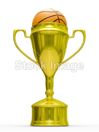 黄金杯优胜者与篮球球图片素材(图片编号:506