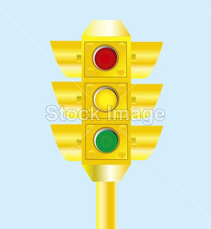 > 黄色交通灯