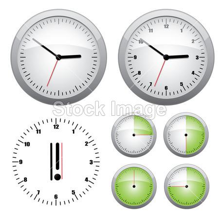 黑色的 天文钟 圆 时钟 发条 收集 概念 截止日期 设计 有光泽的 图形