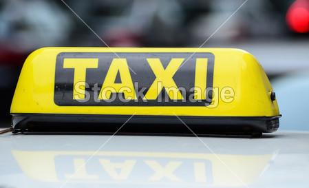 出租车的标志摄影图片下载