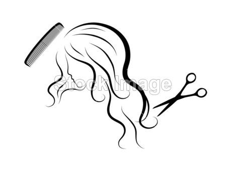 女生侧面头发简笔画分享展示
