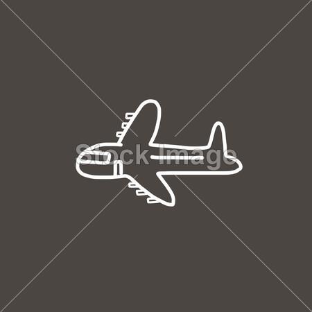 飞机卡通素描摄影图片下载