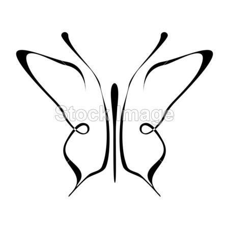 蝴蝶纹身-剪影
