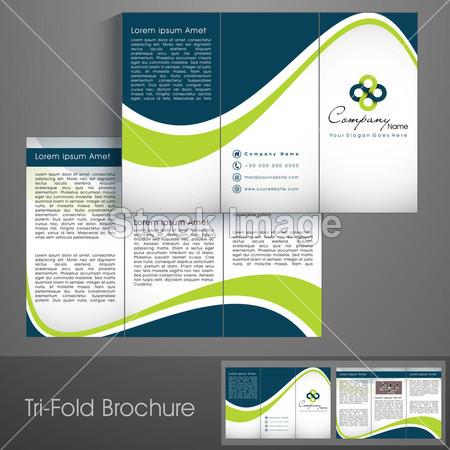 >专业商务三折页传单模板, 企业宣传册或封面设计,可用于出版, 打印和