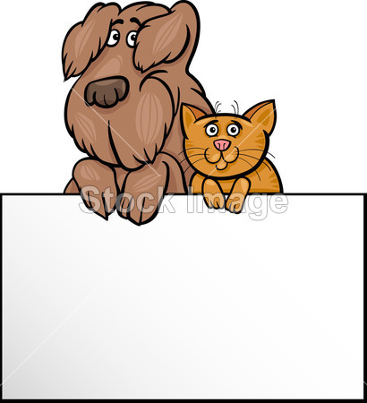 人与猫相处手绘动漫