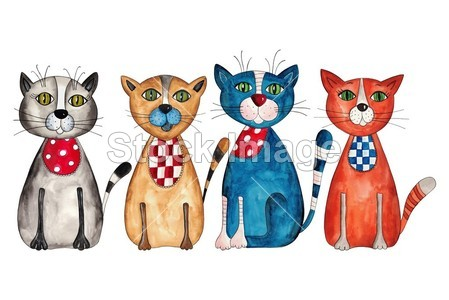 手工纸质猫作品图片步骤