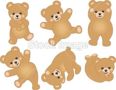 可爱的小宝贝泰迪熊