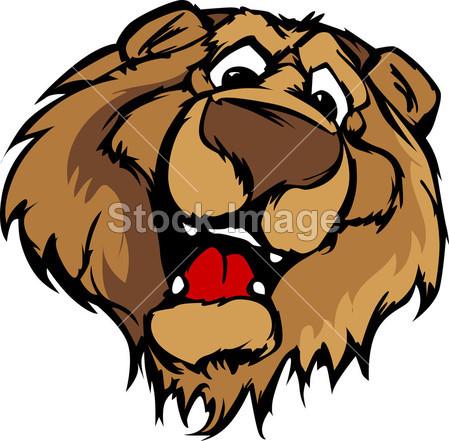 动物 动物 熊 熊 大 卡通 可爱的 设计 设计 面对 头 高 图标