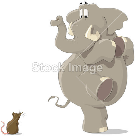 动物 大 卡通 可爱的 设计 元 耳朵 大象 恐惧 吓坏了 有趣的
