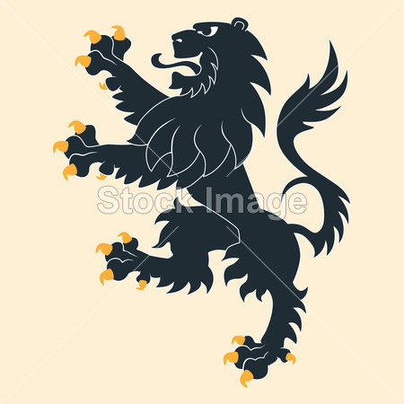卡通小狮子纹身