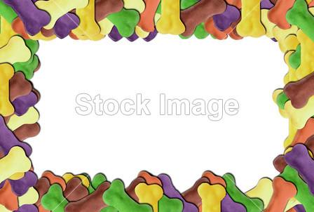 食物彩色简笔画边框
