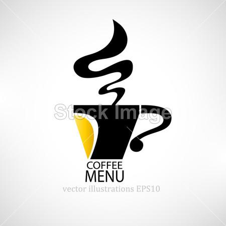 咖啡厅菜单.咖啡杯子的形状