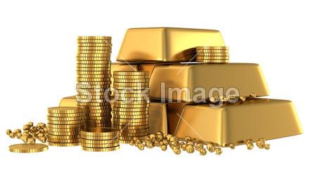 3d 金条和金币图片素材(图片编号:50857248)_