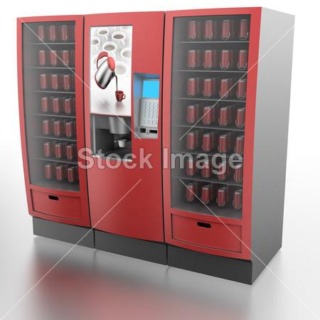 >咖啡和自动贩卖机