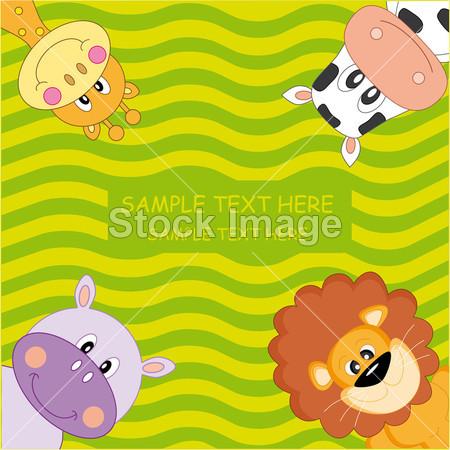 有趣的动物卡摄影图片下载_儿童婴儿_人物_拍图网