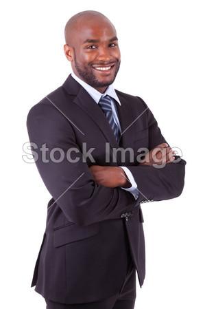 非洲裔美国商务男人袖手旁观图片素材(图片编