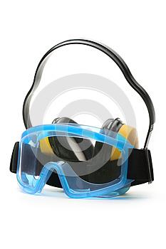 reban goggles  blue goggles white